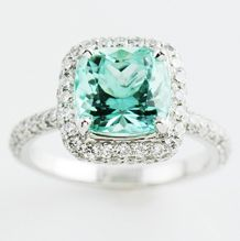 Mint Tourmaline ring. Don't even ask how much. But it is to die for, yes? sighhhh.