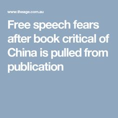 Allen & Unwin has ditched a book on Chinese Communist Party influence in Australian politics and academia. Media Influence, Australian Politics, China, Books, Free, Libros, Book, Book Illustrations, Porcelain