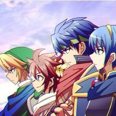 Super Smash Bros. Link, Pit, Ike and Marth. Part of the Crew.