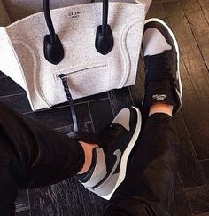 Celine bag with Airforce 1's = SWAG