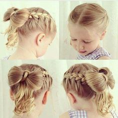 170 Easy Hairstyles Step By Step Diy Hair-styling Can Help You To Stand Apart From The Crowds - Hair Styles - Hair Style Ideas Little Girl Hairdos, Flower Girl Hairstyles, Princess Hairstyles, Little Girls, Kids Girls, Hairstyles For School, Cute Hairstyles, Braided Hairstyles, Teenage Hairstyles