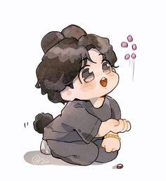 Jungkook Fanart, Jungkook Lindo, Fanart Bts, Vkook Fanart, Jungkook Cute, Bts Chibi, Chibi Anime, Arte Bob Marley, Cute Little Drawings