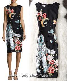 Weltall Sommerkleid in Schwarz #damenmode #damenkleider #fashion #dress
