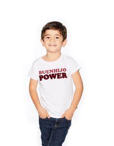 Camiseta blanca 'Buenhijo Power' My Wish List, Club, T Shirt, Tops, Women, Fashion, White T Shirts, White People, Moda