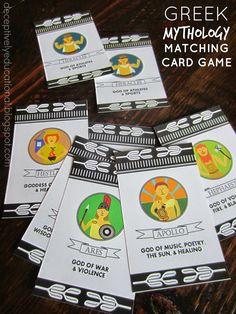 Relentlessly Fun, Deceptively Educational: Greek Mythology Matching Card Game