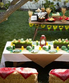 John Deere Birthday Party use the wheat stalks. Serve corn and chicken Tractor Birthday, Cowboy Birthday, Farm Birthday, Country Birthday, Barnyard Party, Farm Party, 1st Birthday Party For Girls, Birthday Ideas, John Deere Party