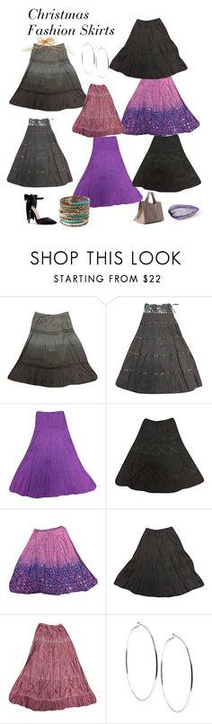 Christmas Fashion Skirts by tarini-tarini on Polyvore featuring Amrita Singh, GUESS, casual, sale, bohodress and ChristmasFashionSkirts