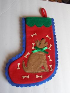 Doggy Stocking Pet stocking for the Holidays by tjmccarty on Etsy, $18.00