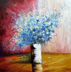Bruni - Bouquet de fleurs bleues