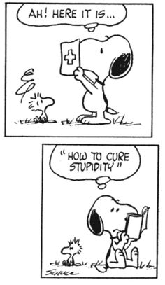 This is why I love Snoopy!