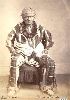 MANY SCALPS (Mano-to-wa), Sauk & Fox, Indian Territory, OK (c.1868)