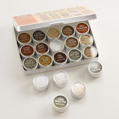 Take your favorite flavors on the road with our Travel Spice kit filled with 20 savory herb and spice blends from around the world. Macrame Plant Holder, Plant Holders, Cocktail Bitters, Savory Herb, What House, Plastic Ware, Best Housewarming Gifts, Mini Candles, Mexica