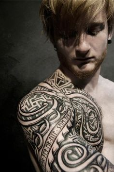 Incredible Nordic and Viking Age inspired tattoos by Meatshop in Copenhagen, Denmark