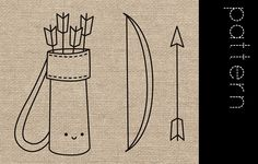 Archery Embroidery Patterns by wildolive, via Flickr