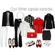 Red black white capsule