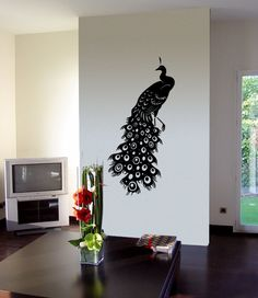@Saygan Broussard  PEACOCK Wall Decals by 7decals on Etsy, $24.99