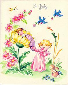 Vintage baby card by contrarymary, via Flickr
