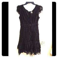Little black sexy lace dress Lace dress like new in perfect condition! Forever 21 Dresses