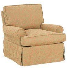 Smaller swivel club chair, available in many colors