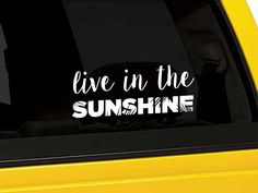 Live in the Sunshine Vinyl Decal Sticker Beach by CreateBrightly
