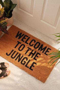 Shop Reed Wilson Design Jungle Doormat at Urban Outfitters today. We carry all the latest styles, colors and brands for you to choose from right here. Funny Welcome Mat, Welcome Mats, Old Apartments, Funny Doormats, Rock Decor, Curtain Patterns, Welcome To The Jungle, Decoration, Room Inspiration