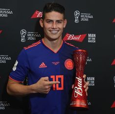 of the match Rodriguez ! James Rodriguez, Football Season, Football Players, Making The Team, Russia 2018, Man Of The Match, The Ch, Fifa World Cup, Soccer Ball