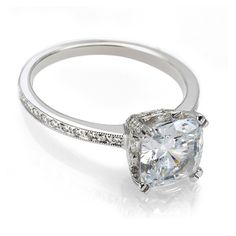 Vintage cushion cut diamond engagement ring..  For more great engagement Gift ideas see: http://www.engagement-rings-specialists.com  #engagement #Rings