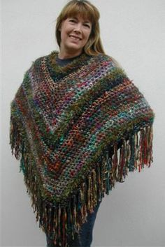 crocheted poncho-free pattern at Mango Moon Yarns