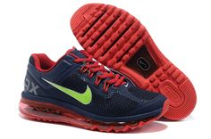 Mens running shoes Nike Air Max 2013 Midnight Fog Navy Bright Crimson Atomic Green 554967 436
