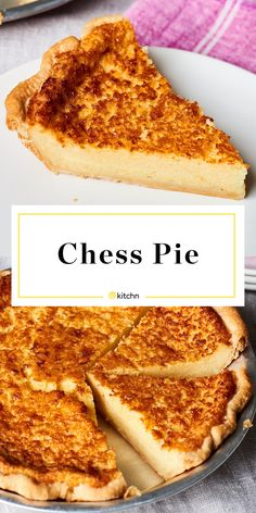 Made with cornmeal and baked in the oven. So simple and easy. Perfect for kentucky derby parties or if you need ideas for baking projects or dessert No Bake Desserts, Easy Desserts, Dessert Recipes, Southern Desserts, Baking Desserts, Healthy Desserts, Dessert Simple, Buttermilk Chess Pie, Southern Buttermilk Pie