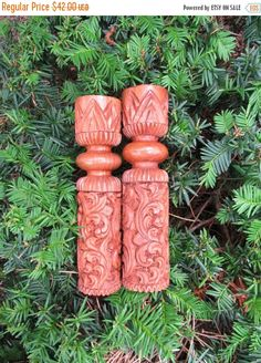 HOLIDAY SALE Mid Century Ornate Carved Wood by VendageTresors