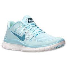 Women's Nike Free 5.0+ Running Shoes| FinishLine.com | Glacier Ice/Night Factor/Summit White