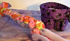 square braided fleece tug toy tutorial
