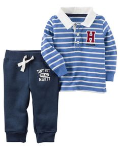 df4538ab0 2-Piece Rugby Polo and Jogger Set. Polo JoggersCarters Baby BoysCarters Baby  ClothesBaby ...