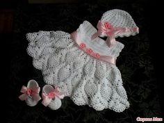 FREE CROCHET BABY DRESS PATTERNS | Lena Patterns
