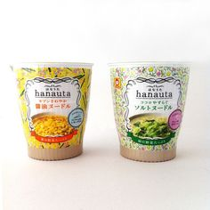 Japanese FLORAL cup noodle packaging!