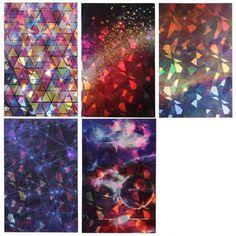 5pc Holographic Nail Art Stickers - Acid Art