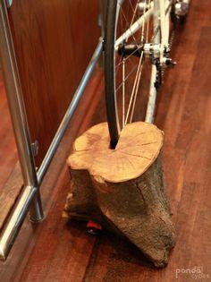 Perfect.  Wood bike rack