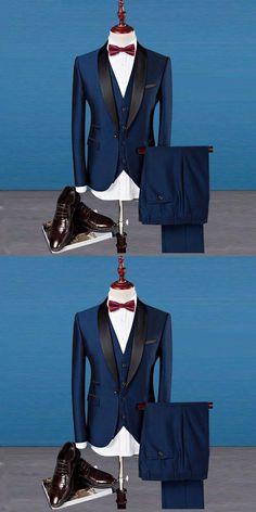 wedding suits men Classic Shawl Collar Men Suits Three-piece Suit Plus Size Business Casual Party Wedding Suits For Men Tuxedos Best Men Suits Blazer For Men Wedding, Wedding Men, Party Wedding, Man Suit Wedding, Best Wedding Suits For Men, Best Man Wedding, Wedding Vows, Slim Fit Tuxedo, Tuxedo For Men