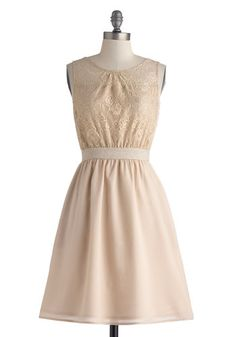 Darling Champagne A-Line Dress