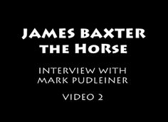 James Baxter, the animator, on James Baxter, the horse. :D