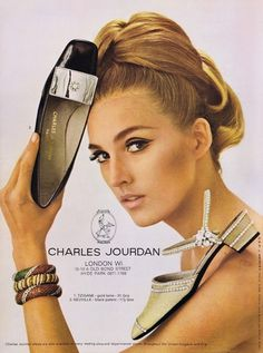Charles Jourdan shoes advertisement, 1966.