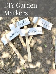 These DIY garden mar