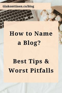 It is always fun to come across funny blog names. I am sure you have seen them amongst both the amateur and professional bloggers. However, there is nothing fun about a blog name that doesn't describe the content in any way. On my blog post, I'll guide you through how to name a blog and offer you my best tips and things to consider, including the worst pitfalls you should try to avoid. Read it before naming your blog: www.tiiakonttinen.co #blogname #blogging #besttips Make Money Blogging, How To Make Money, H Words, Blog Names, Blog Topics, Free Blog, Blogging For Beginners, How To Better Yourself, Writing Inspiration
