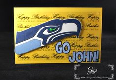 Crafting Crumbs: A SeaHawk Birthday Card