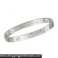 Cartier Silver Platinum Plated Love Bracelet no Diamonds