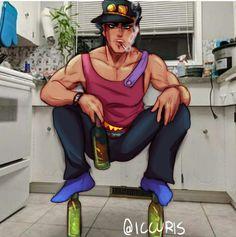 Jojo's Bizarre Adventure, Fanart, Jojo Anime, Jotaro Kujo, Another Anime, Jojo Memes, Jojo Bizarre, Anime Characters, Poses