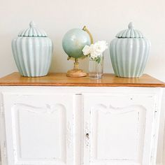 """""""Oh darling, let's be adventurers..."""" Ginger jars and globe"""