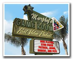 Personalized Game Room Retro Sign Art Print by FantaSigns on Etsy, $29.95 #neon #signs #retro #Art #Personalized