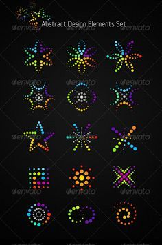 Abstract Vector Design Elements Set $5